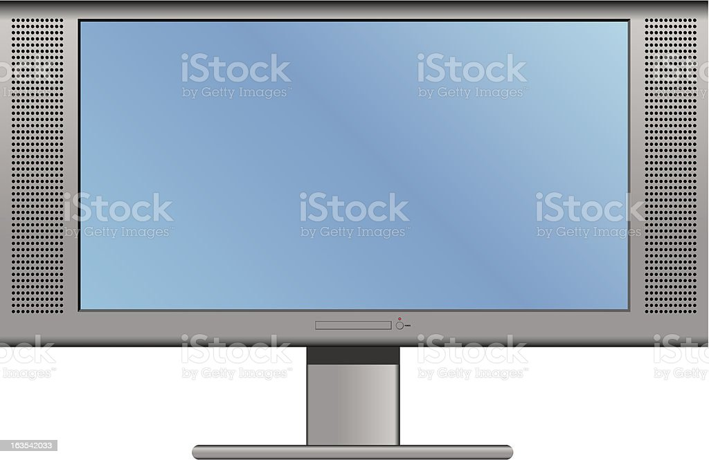 Plasma or LCD Television royalty-free stock vector art
