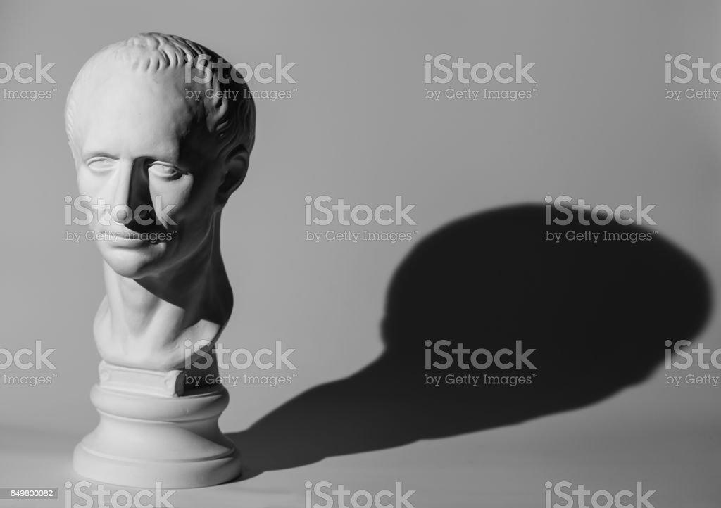 Plaster head of Caesar vector art illustration