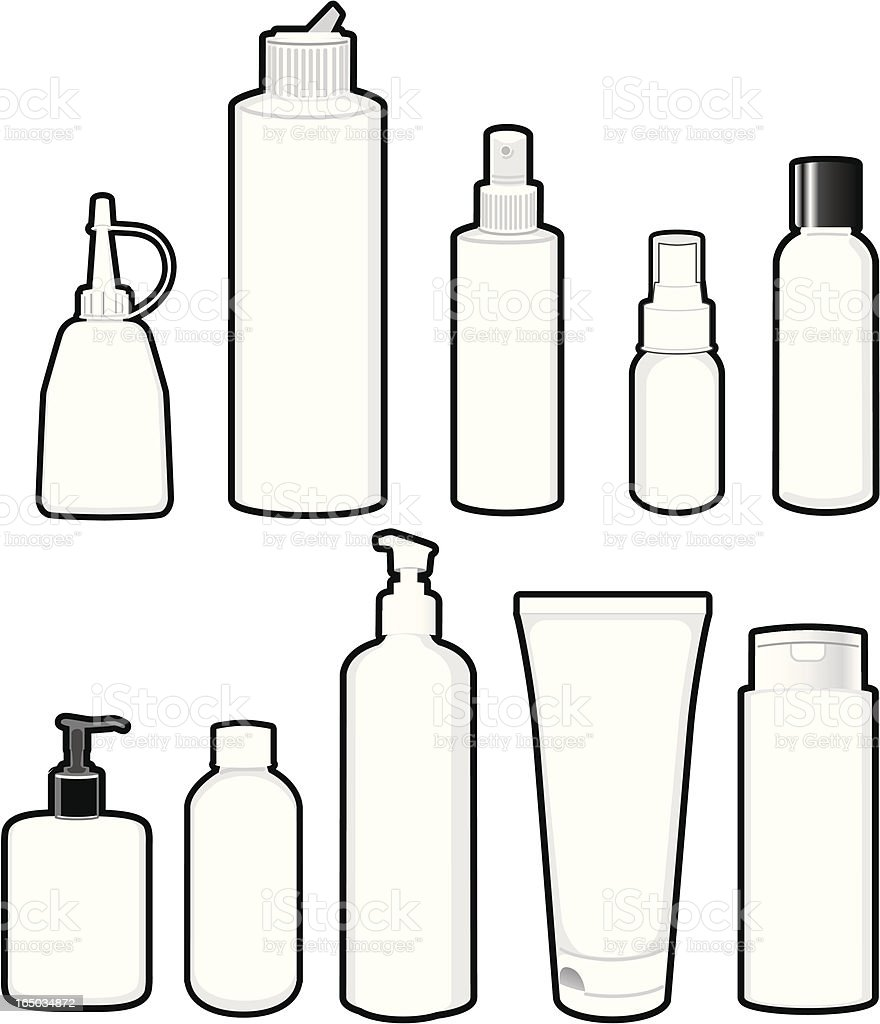 plastic bottle template stock vector art more images of beauty