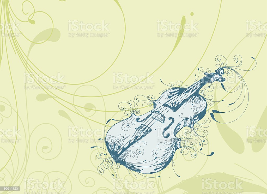 Playful Violin royalty-free playful violin stock vector art & more images of art and craft