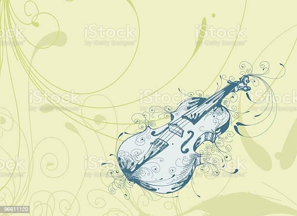 Playful Violin-vektorgrafik och fler bilder på Blå