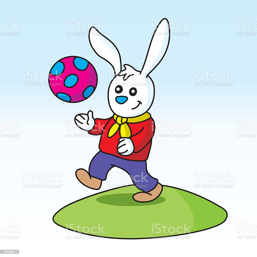 Playing Bunny royalty-free playing bunny stock vector art & more images of animal
