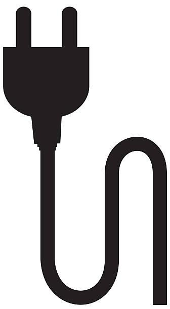 illustrations, cliparts, dessins animés et icônes de plug silhouette - rallonge électrique