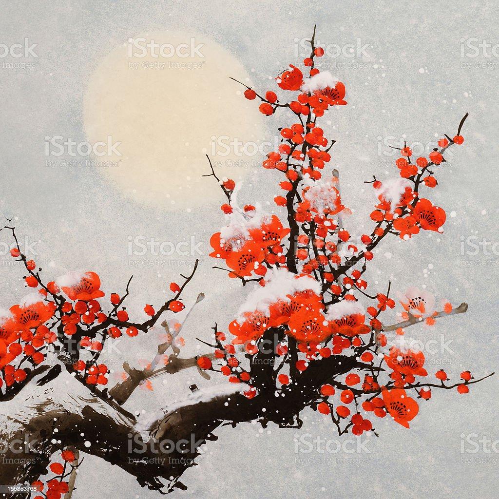 plum blossom royalty-free plum blossom stock vector art & more images of art