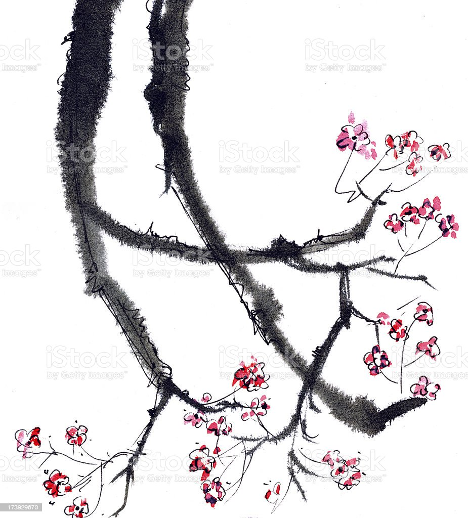 Plum blossom royalty-free stock vector art