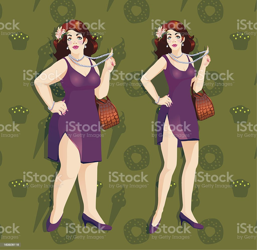 Plus size model royalty-free stock vector art