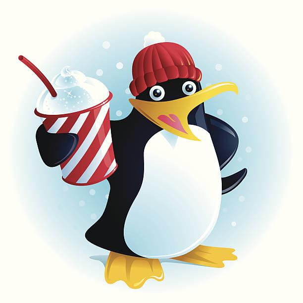 Plushee the Slush Penguin vector art illustration