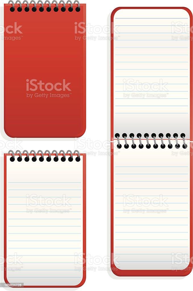 pocket notebook vector art illustration