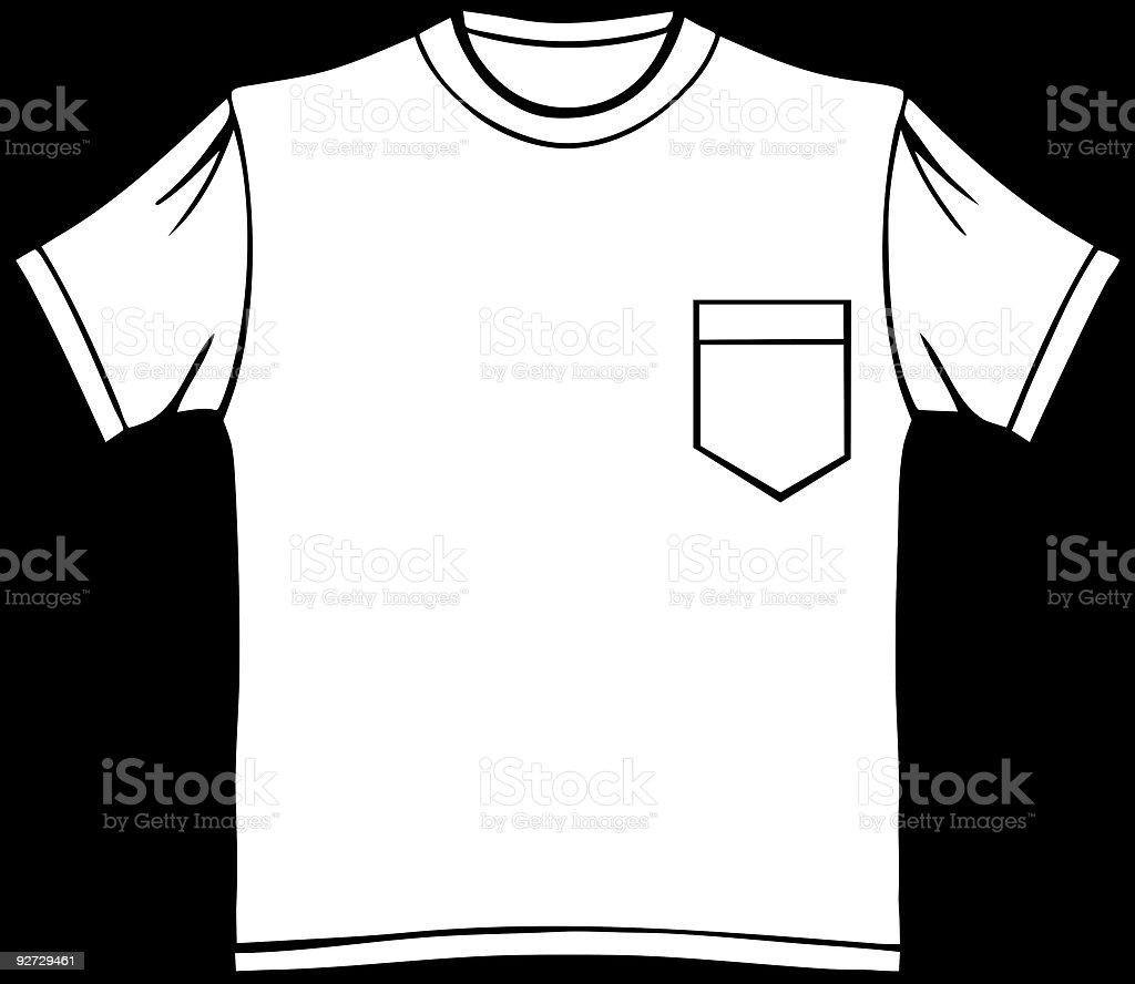 Pocket T-Shirt vector art illustration