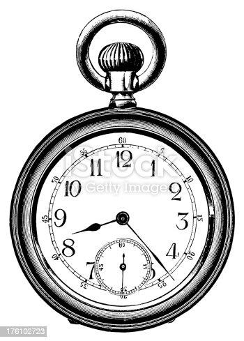istock Pocket watch   Antique Design Illustrations 176102723