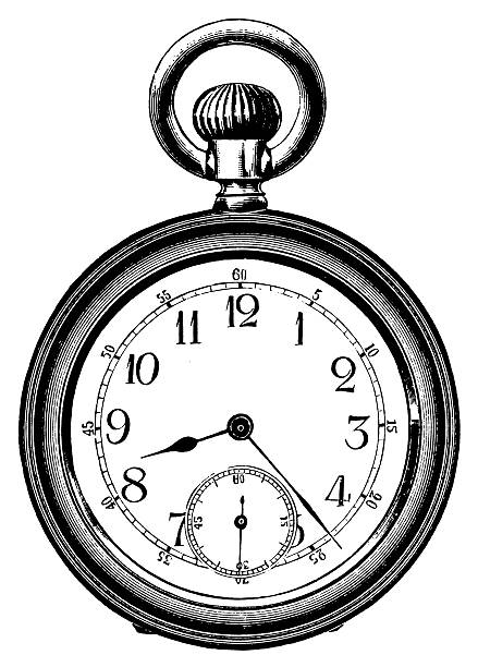 Pocket watch   Antique Design Illustrations vector art illustration