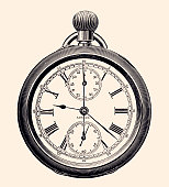 Engraving pocket watch of the 19th century