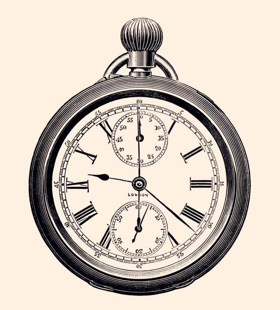 Pocket Watch (XXXL) vector art illustration