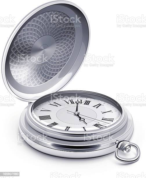 Pocket Watch Stock Illustration - Download Image Now