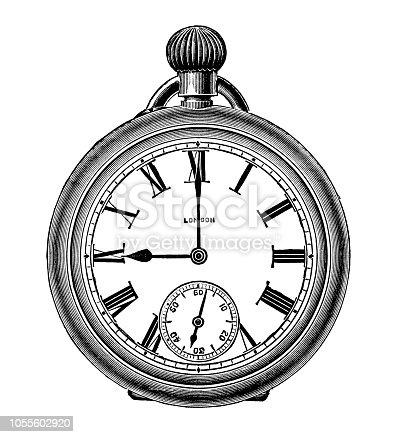 istock Pocket Watch Silver (XXXL) 1055602920