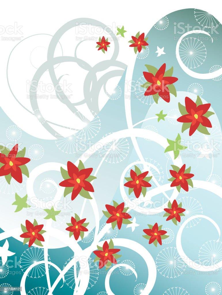 Poinsettia Spiral royalty-free stock vector art