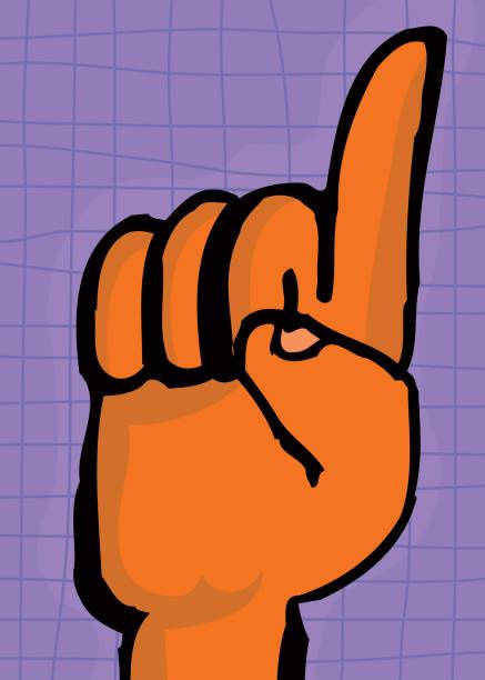 point finger vektorkonstillustration