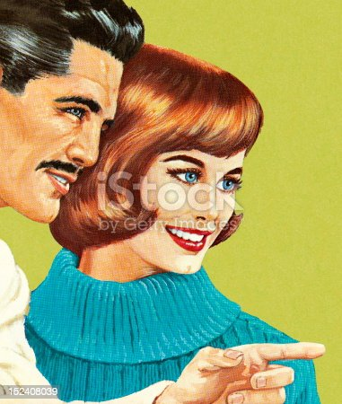 istock Pointing Man With Woman 152408039