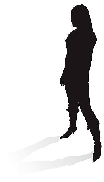 Pointy Boots - silhouette vector art illustration