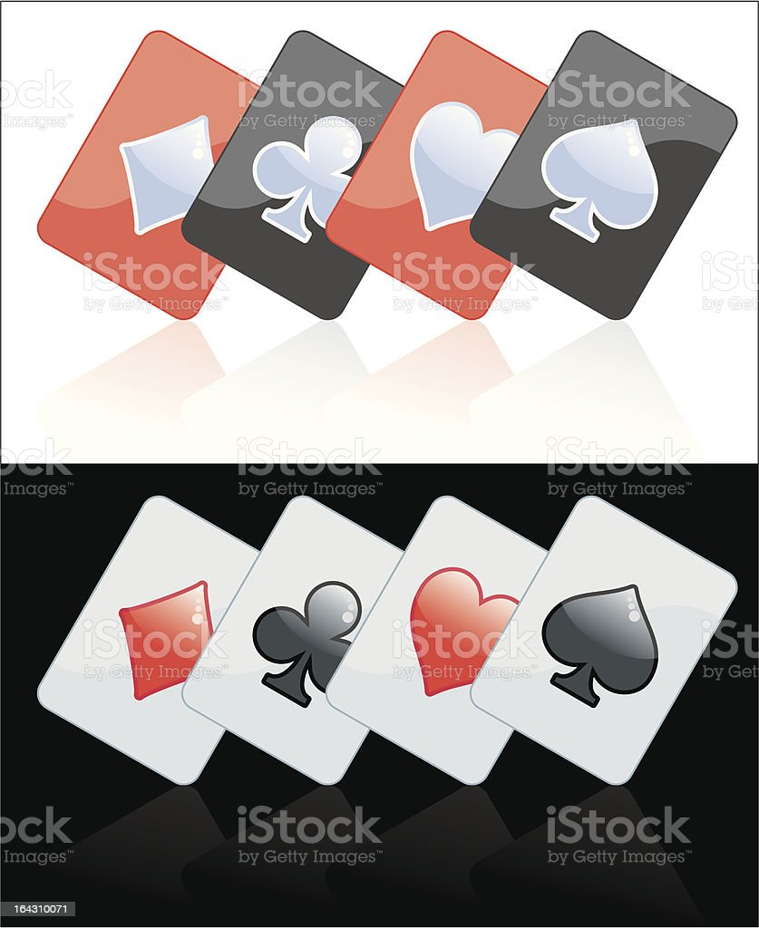 Poker card black and red vector art illustration