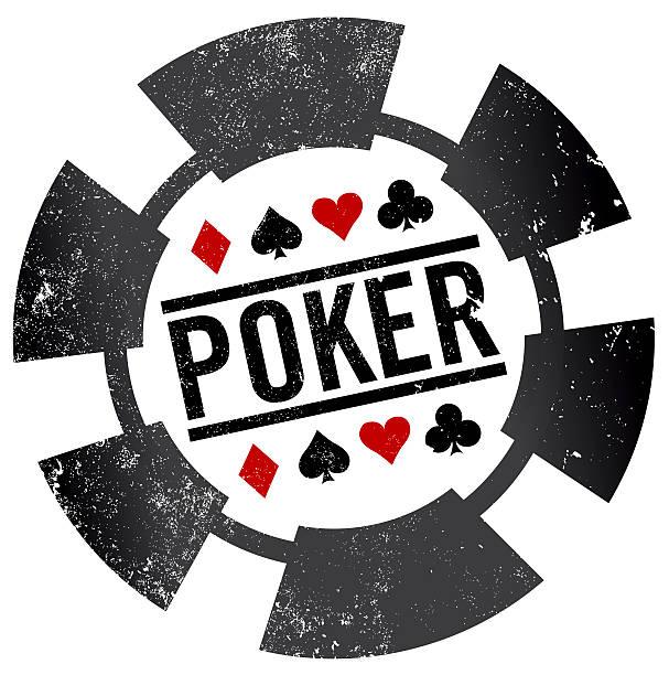 Sello de póquer chip - ilustración de arte vectorial