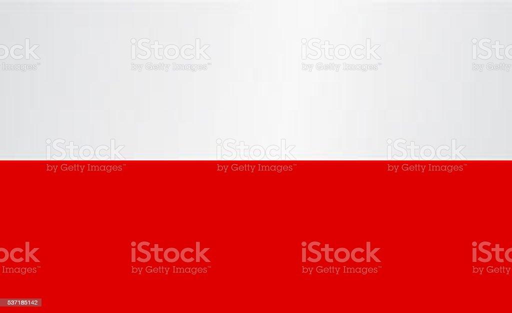 Poland flag vector art illustration