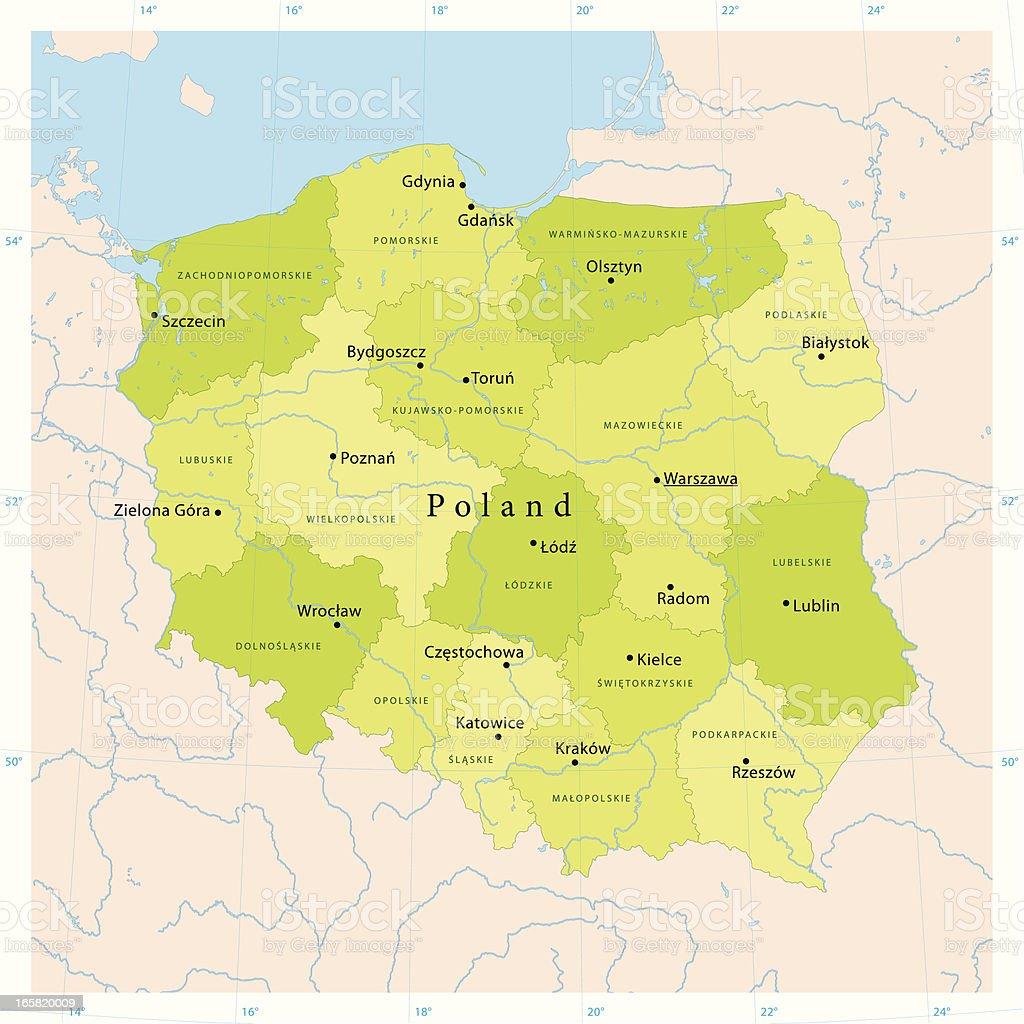 Poland Vector Map vector art illustration