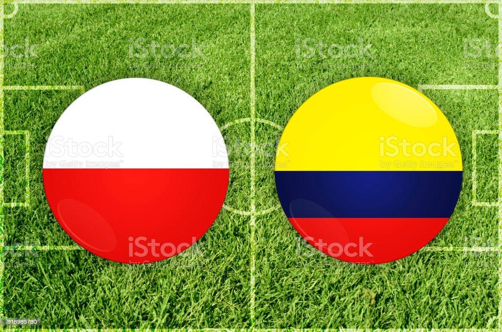 Polen Vs Colombia Voetbalwedstrijd Royalty Free Polen Vs Colombia Voetbalwedstrijd Stockvectorkunst En Meer Beelden Van