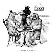 Polar bears eating ice creams