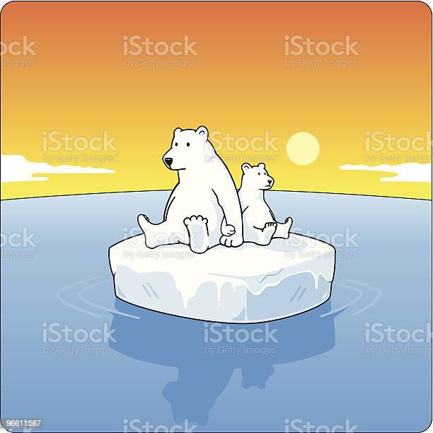 Polar Bears On Ice-vektorgrafik och fler bilder på Björn