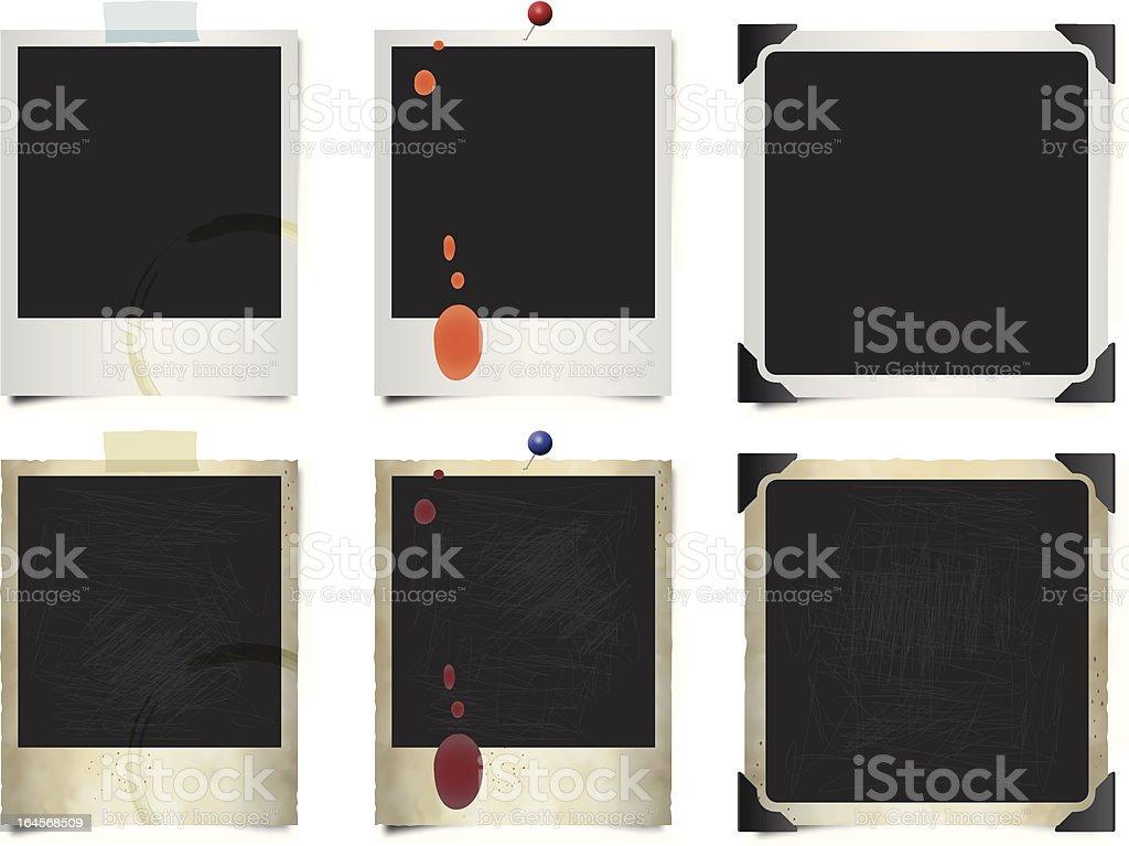 Polaroid Frames vector art illustration