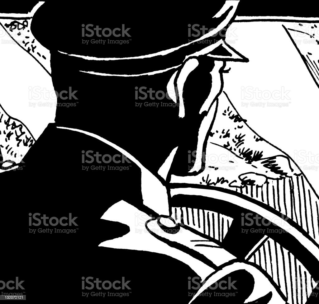 Policeman Driving royalty-free stock vector art