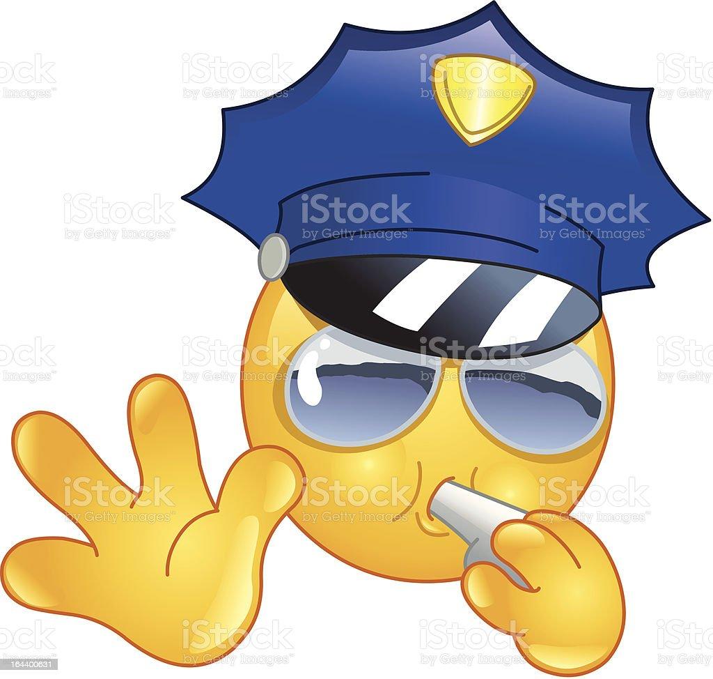Policeman emoticon vector art illustration