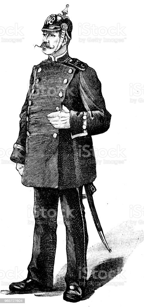 Policeman in Berlin - Royalty-free 1890-1899 stock illustration