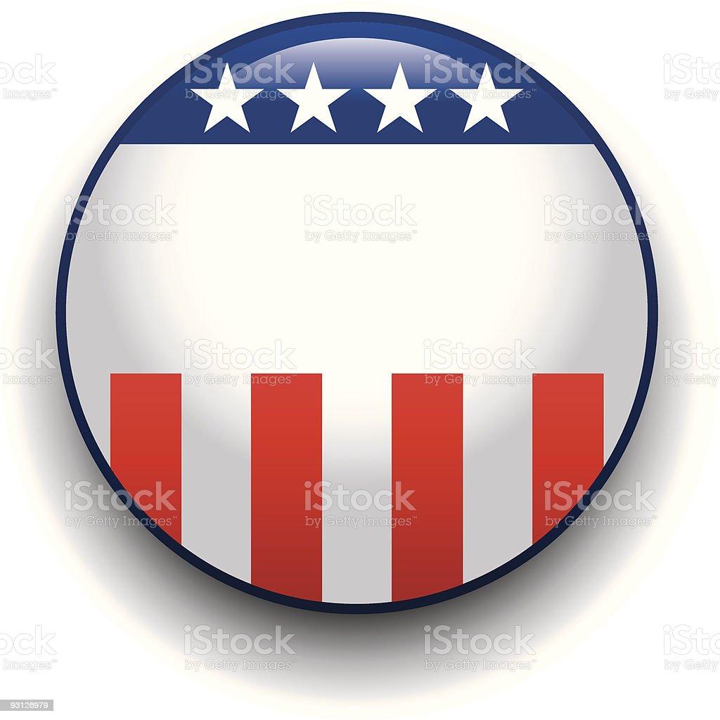 Political Button royalty-free stock vector art