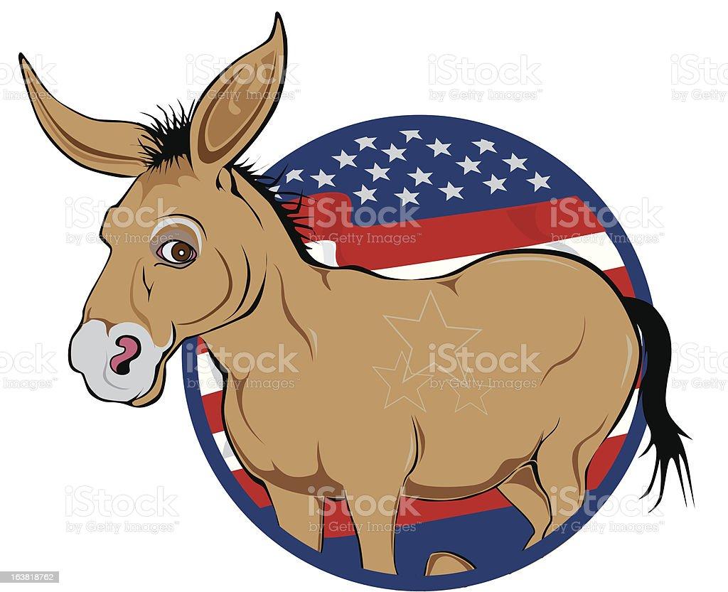 Political Donkey royalty-free stock vector art