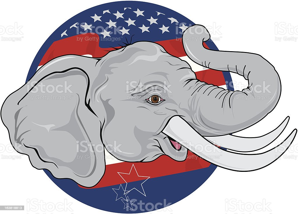 Political Elephant vector art illustration