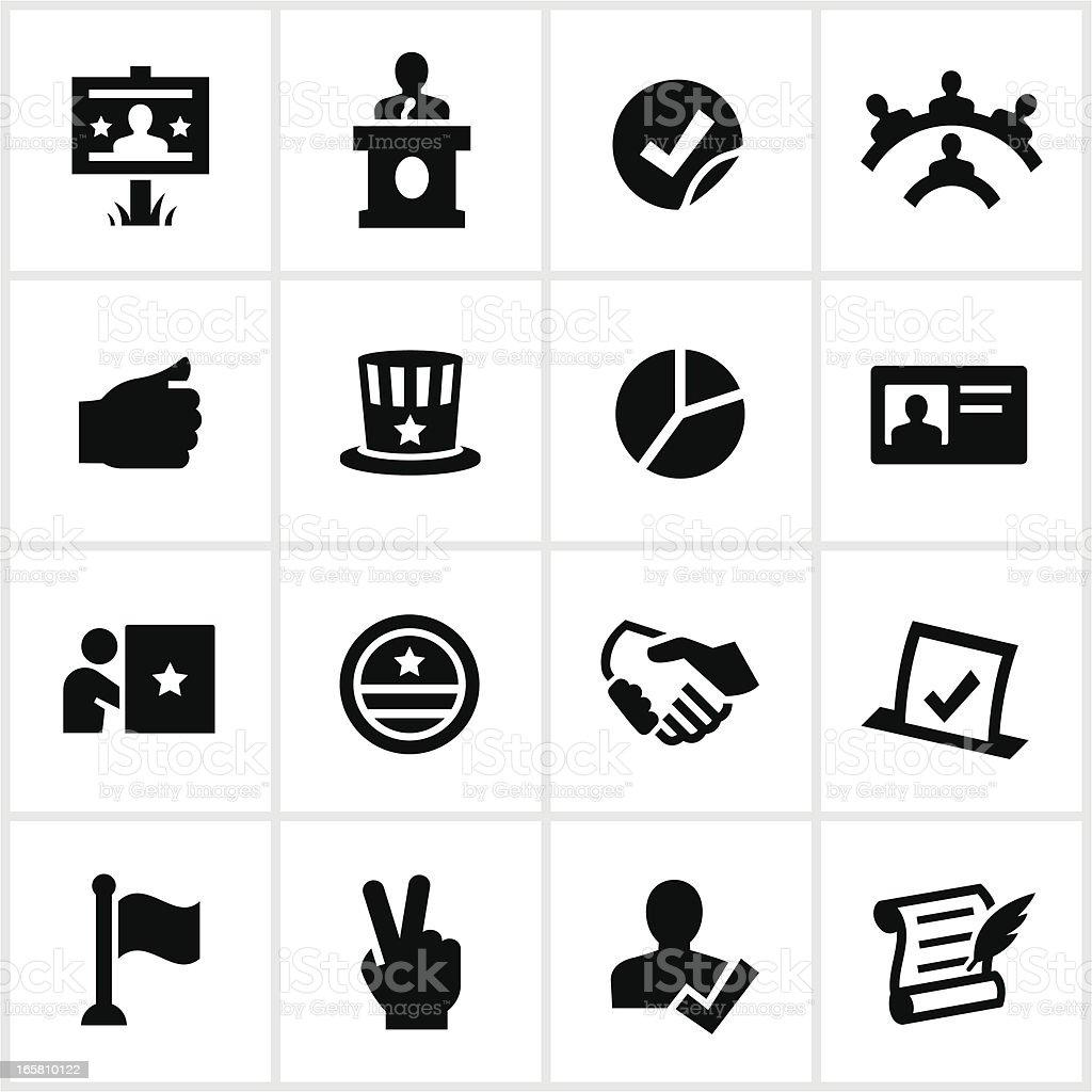 Political Icons vector art illustration