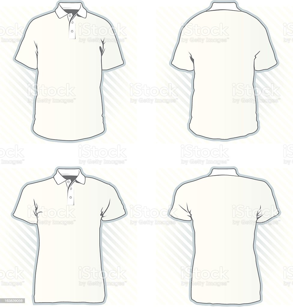 Polo shirt design template set stock vector art more for Polo shirt design template