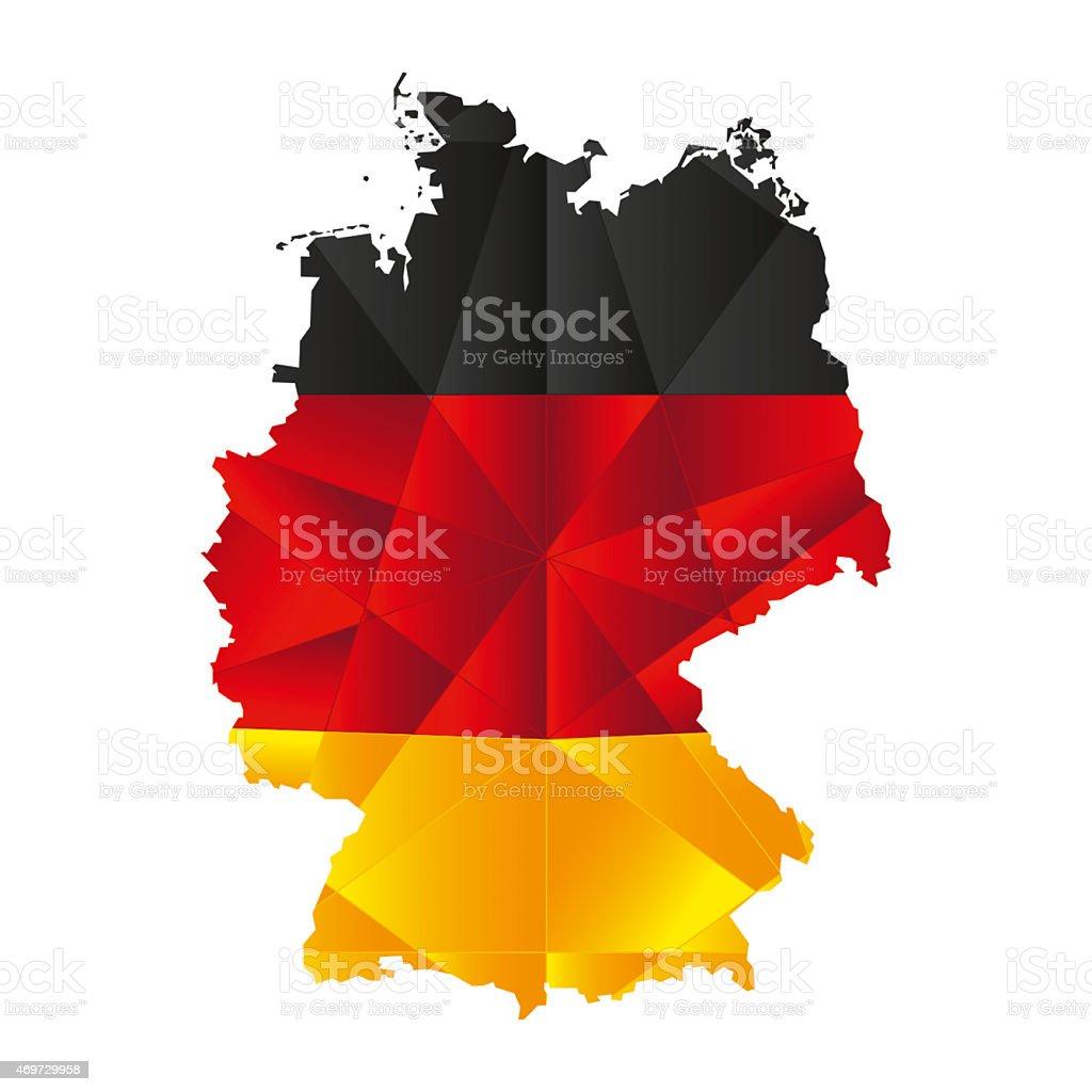 Polygon Map - Germany vector art illustration