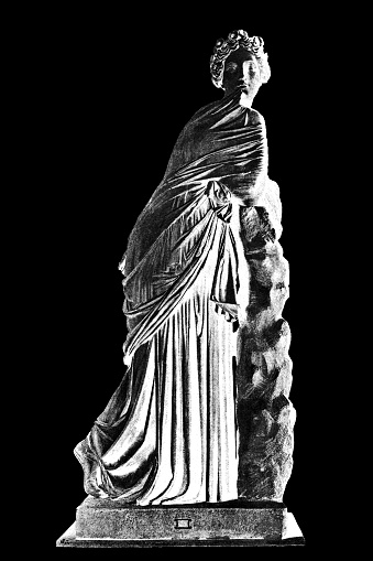 Polymnia, also called Polymnis, or Polyhymnia, in Greek religion, one of the nine Muses, patron of dancing or geometry