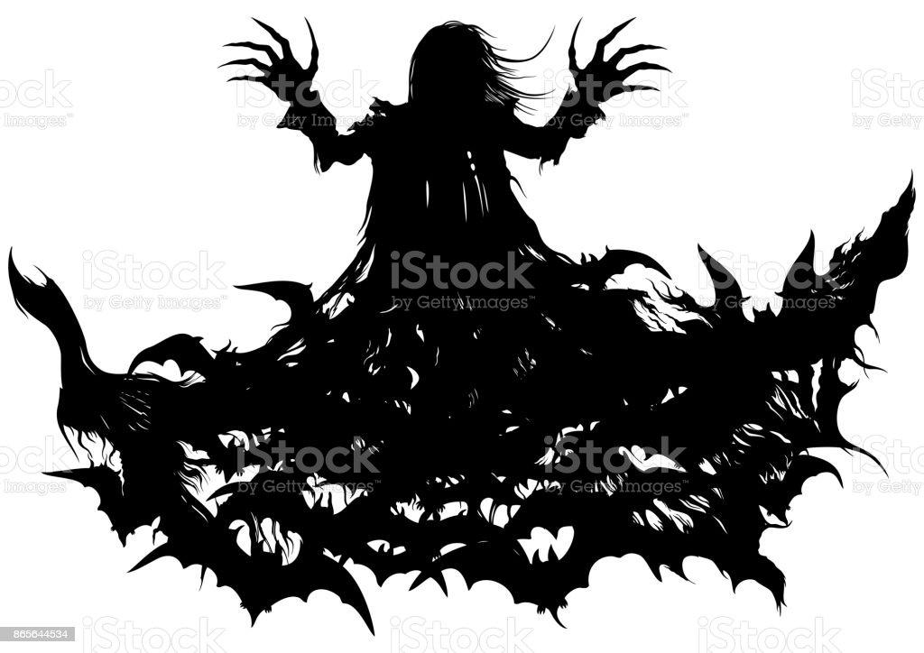 Polymorph vampire vector art illustration