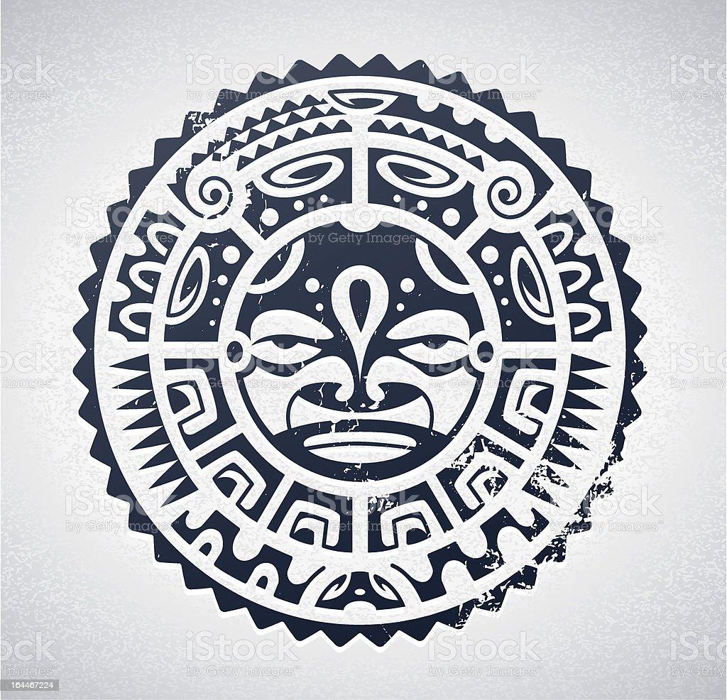 Tatuaje de la Polinesia - ilustración de arte vectorial