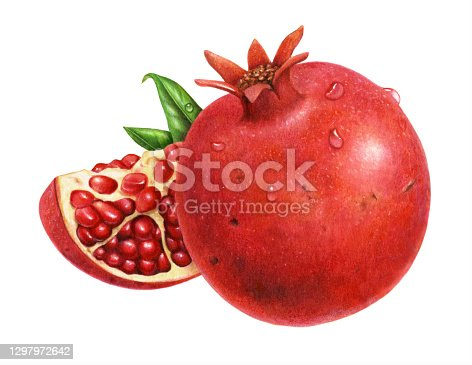 istock Pomegranate and Wedge 1297972642