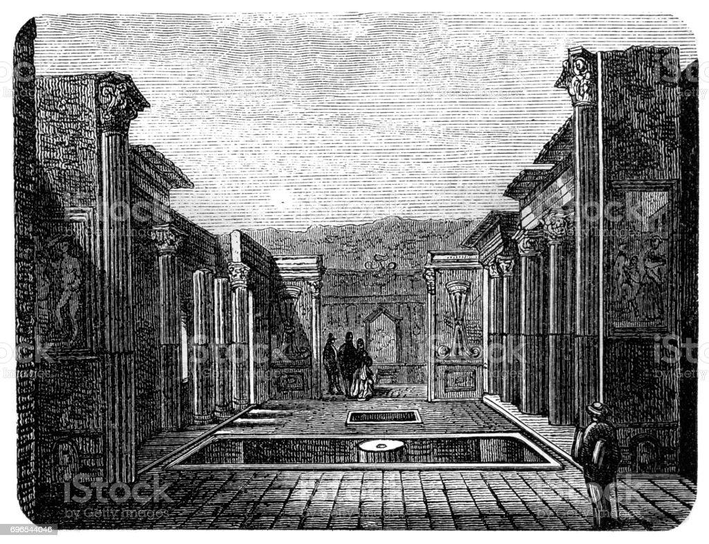 Pompeii vector art illustration