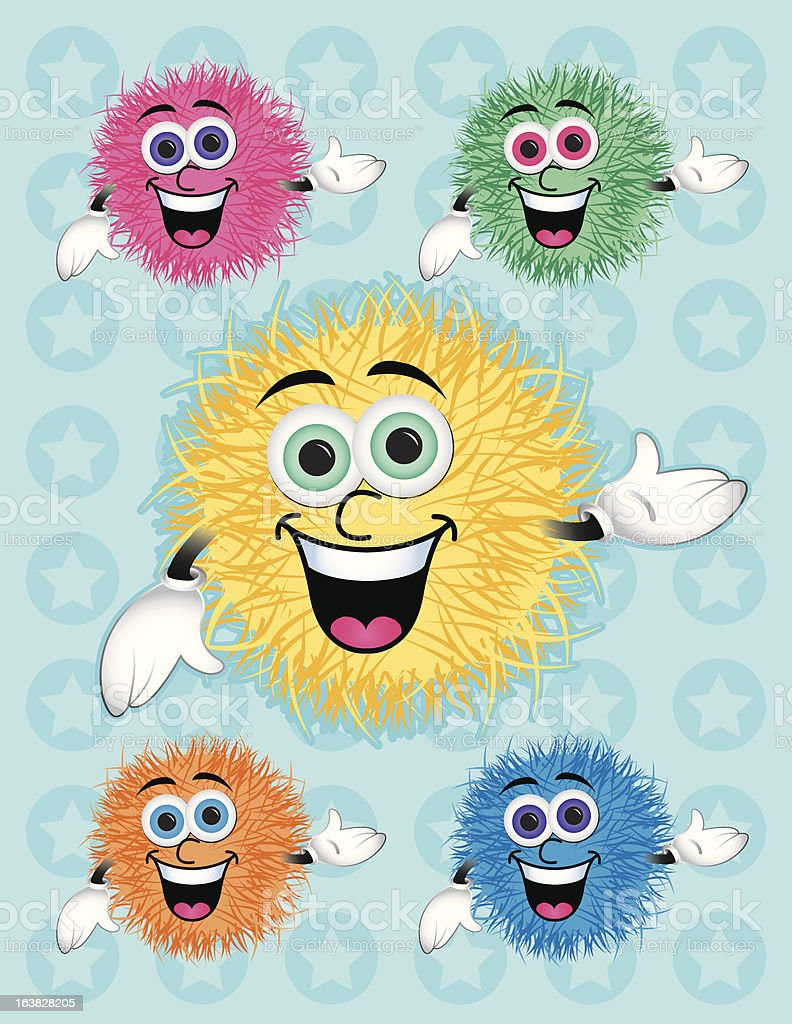pompom character royalty-free stock vector art