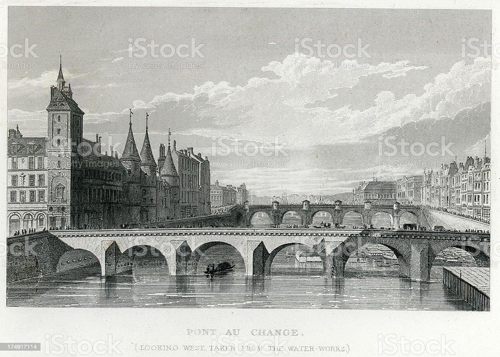 Pont Au Change, Paris, France royalty-free pont au change paris france stock vector art & more images of 19th century