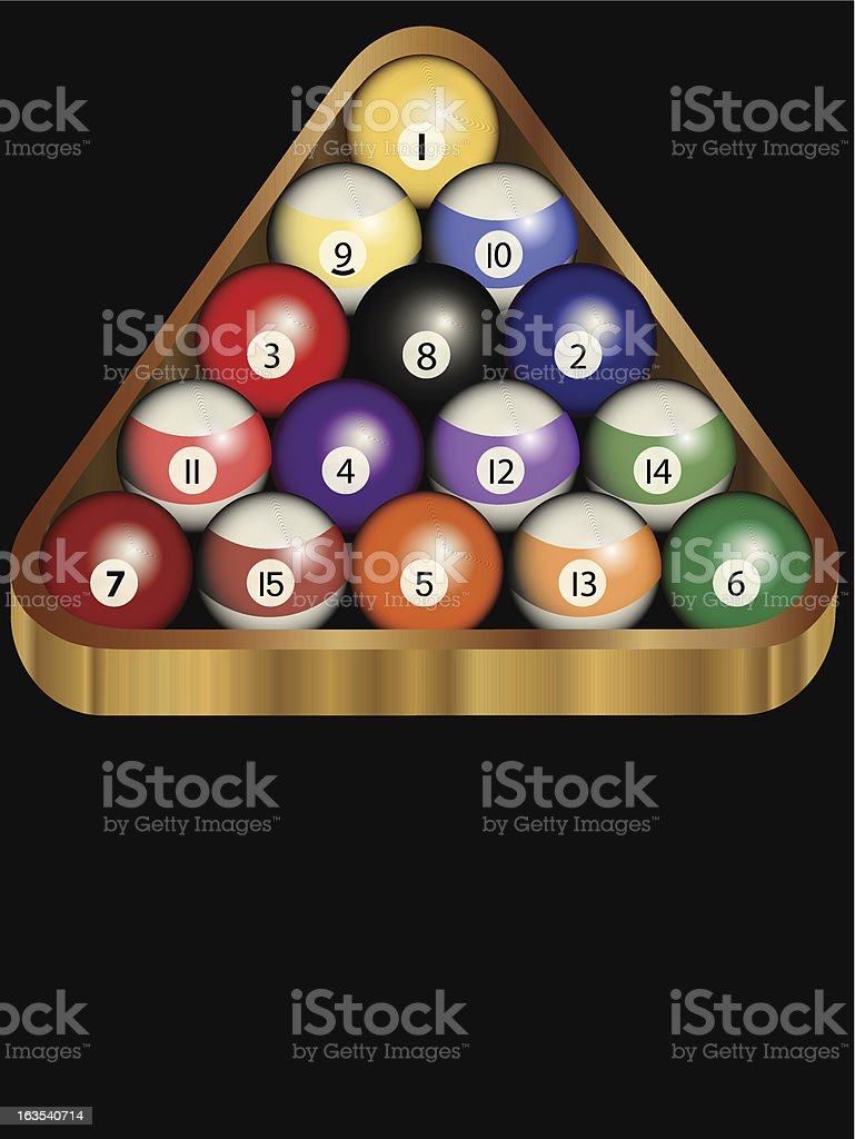 Pool hall sign template royalty-free stock vector art