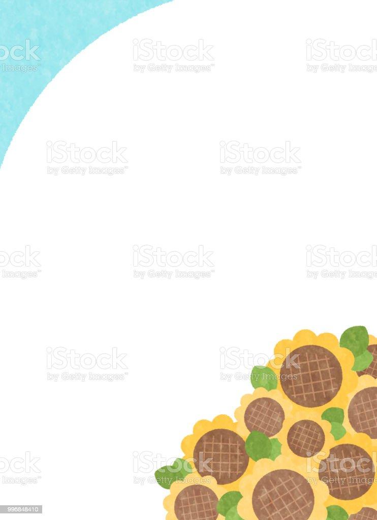 Pop sunflower copy space vector art illustration