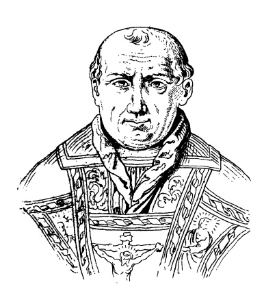 Pope Clement V Antique Portrait Gallery Stock Illustration - Download Image Now